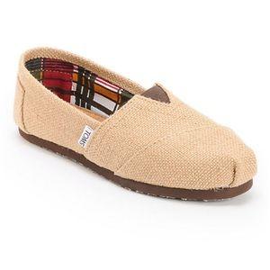 TOMS Classic Burlap Shoes